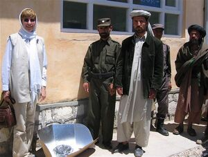 Patricia McArdle in Afghanistan 2005