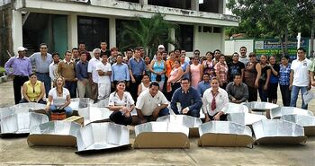 Solar cooking training in Tapachula, Mexico