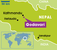File:Godavari, Nepal map, 9-21-15.png