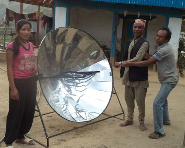 File:Sun and Ice - 500 solar cooker Nepal.jpg
