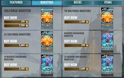 Store Boosters