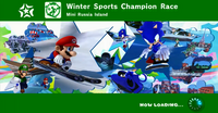Winter Sports Champion Race Title Card