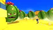 In Sonic Lost World, cactus is seen being wasted