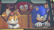 Sonic driving angrily