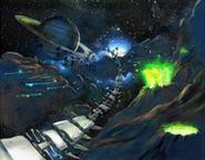 Asteroid Coaster 2 Zone Artwork