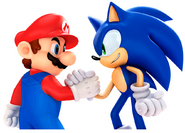 Sonic with mario pose 2