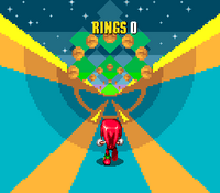 Special Stage Knuckles in Sonic 2
