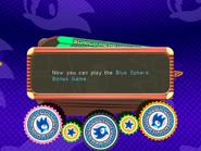 Blue Sphere Bonus Game unlocked