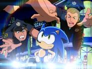 Cops trying to get Sonic