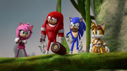 S2E13 Sonic Tails Knuckles and Amy