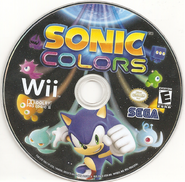 Sonic Colors US Wii Disc