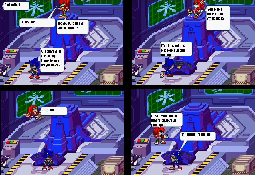 Metal Sonic the Pervert who needs glasses Outake