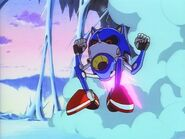Metal Sonic charging at Sonic