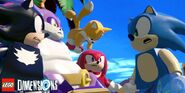 Sonic and his LEGO friends