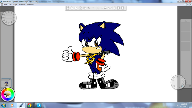 File:Cesar the Hedgehog By Metal.png