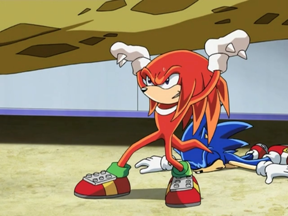 File:Knuckles save Sonic.jpg