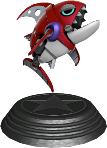 File:Sonic Generations Chopper Statue.png