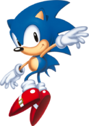 A picture of Sonic from the Sonic website