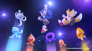 Sonic, Tails and Wisps (Sonic Colors Opening DS)