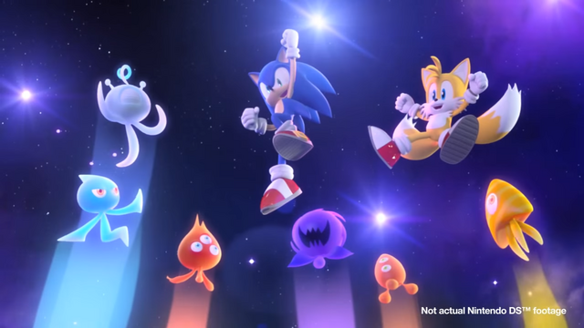 File:Sonic, Tails and Wisps (Sonic Colors Opening DS).png