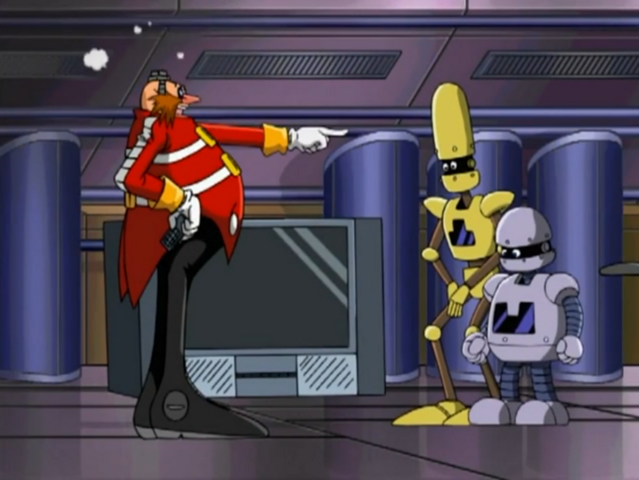 File:Ep46 Eggman pointing at Bocoe and Decoe.png