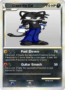 Trading card Claws the Cat