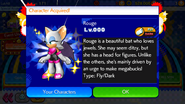 Sonic Runners Rouge unlocked