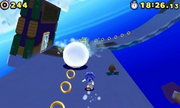 Oh no, it's those roatating snowman parts from Super Mario 64