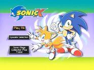 Sonic X Volume 10 main menu