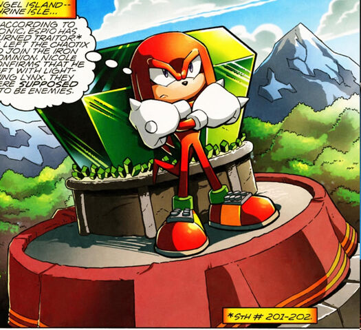 File:Knuckles Guarding the Master Emerald.jpg