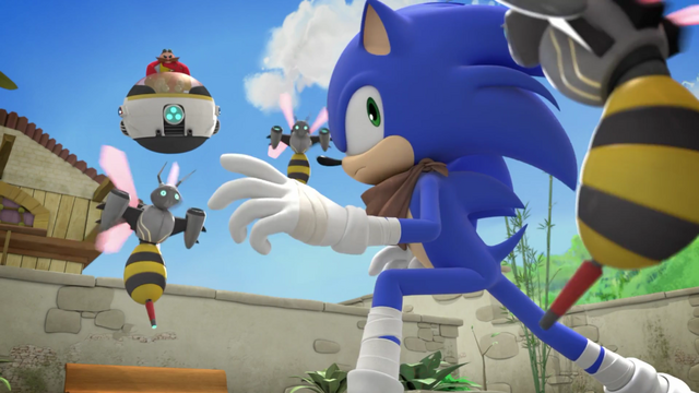 File:Sonic surrounded by Beebots.png