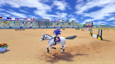 Sonic on Horse