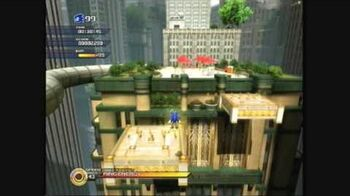 Sonic Unleashed - Empire City (Day) - Skyscraper Scamper, Act 1 (S-Rank)