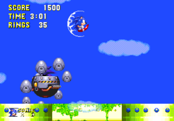 Mecha Sonic trying to be original