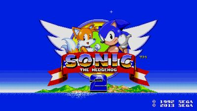 Sonic 2 Remastered Title Screen