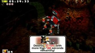 Sonic Adventure DX (GC) E-102 Red Mountain Missions Level B and A