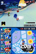 Mario And Sonic At The Olympic Winter Games DS screenshot