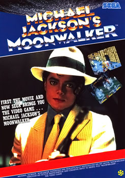 Moonwalker arcade flyer