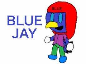 Blue Jay cartoon style