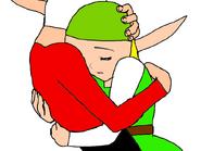 Young Damas and Young Monglia's goodbye hug