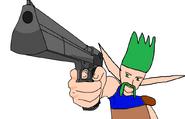 Future Thrash using his gun