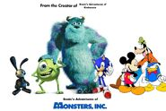 Sonic's Adventures of Monsters Inc