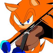 Sora plays the violin