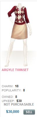 Argyle Twinset