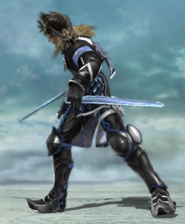 Riley Wielding Soul Calibur