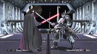 SoulCalibur IV PS3 Darth Vader's Command List