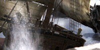 Sinking Merchant Ship