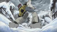 Sid grabs Mifune by the feet