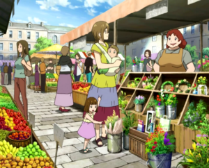 Soul Eater NOT Episode 2 - Death City marketplace 1