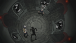 Soul Eater Episode 39 HD - Patty manipulates Lord Death statues (1)